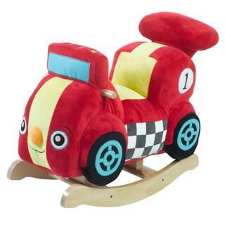 Rockabye Speedy the Race Car Multicolor Plush Rocker