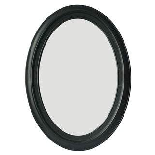Black Oval 28.75-inch x 21-inch Wall-mount Dressing Mirror