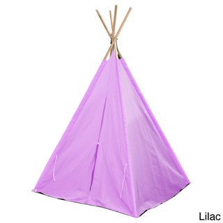 Kids' Tee Pee Canvas 2-Person Tent (Option: Pink)