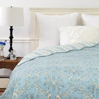 Windsor Blue Twin Size Cotton Quilt (Shams Not Included)