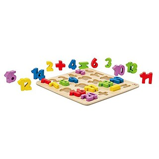 Hape Unisex Kids' Wooden Numbers Puzzle