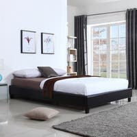 Hadwen Black Faux Leather Full/Queen Bed