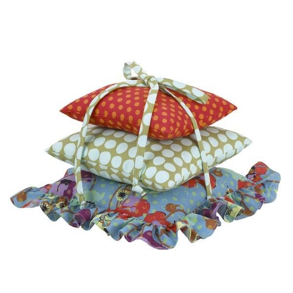 Cotton Tale Lagoon Polka Dot Flower Pillow Pack