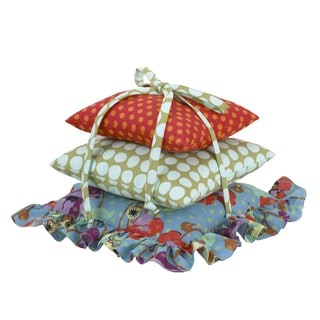Cotton Tale Lagoon Polka Dot Flower Pillow Pack