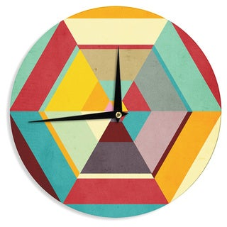 KESS InHouseDanny Ivan 'Color Mess' Wall Clock