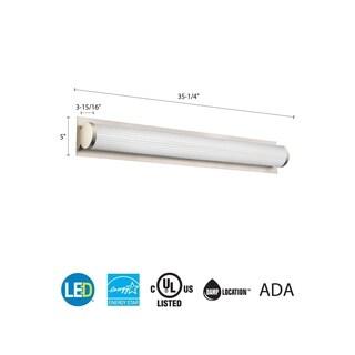 Lithonia Lighting FMDECL 14 20830 WH M4 Essentials 14-inch White 3000K LED Round Flushmount Light