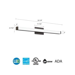 Lithonia Lighting FMDECL 14 20840 BN M4 Essentials Brushed-nickel 14-inch 4,000K LED Decor Round Flushmount