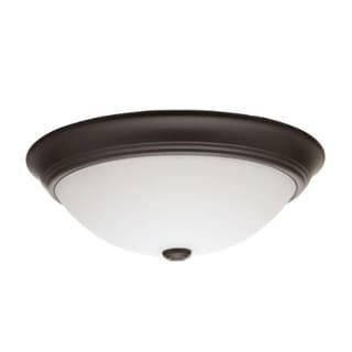 Lithonia Lighting Essentials Bronze Steel Glass 14-inch LED Round Flushmount Light