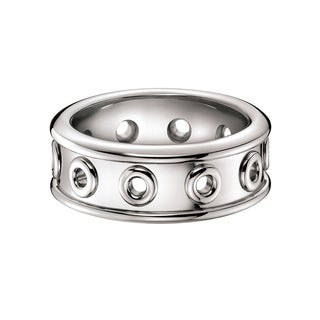 Calvin Klein Notch Women's White Stainless Steel Women's Fashion Ring (4 options available)