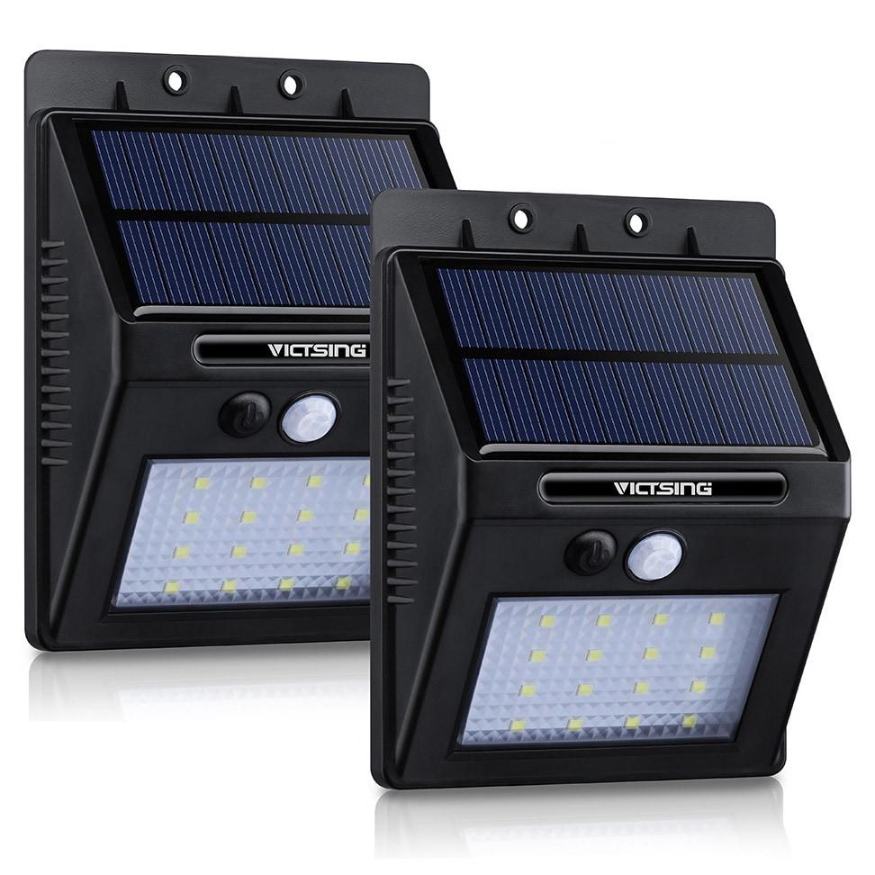 Coutlet Black ABS/Plastic 16-LED 320-Lm Solar Panel-power...