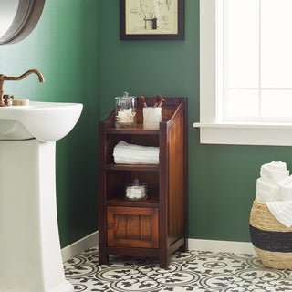 Handmade Ilang Tall Linen Bathroom Cabinet (Indonesia)