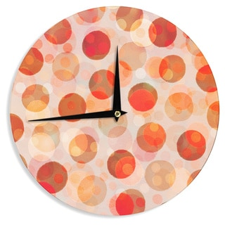 KESS InHouseDaisy Beatrice 'Shepard's Delight' Orange Wall Clock