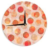 KESS InHouseDaisy Beatrice 'Shepard's Delight' Orange Wall Clock
