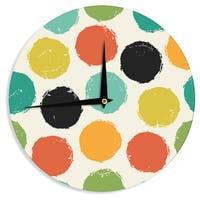 KESS InHouseDaisy Beatrice 'Retro Dots' Circles Wall Clock