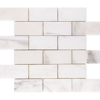 Calacatta Verde 2-inch x 4-inch x 3/8-inch Polished Mosaic Tile