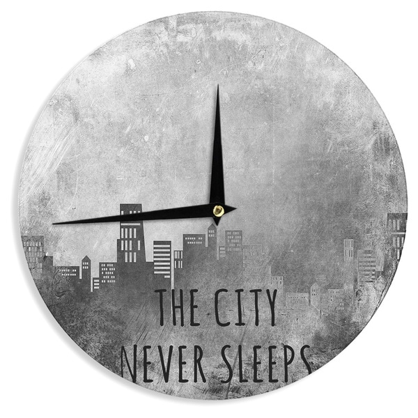 "Kess InHouse Alison Coxon ""The City Never Sleeps"" Wall Clock 12"""