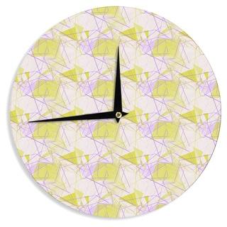 "Kess InHouse Alison Coxon ""Yellow"" Wall Clock 12"""