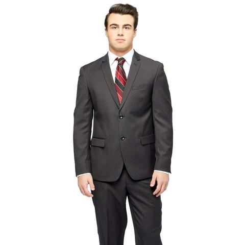 Caravelli Men's Black Extra-Slim Two-Button Suit