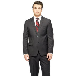 Caravelli Men's Black Extra-Slim Two-Button Suit