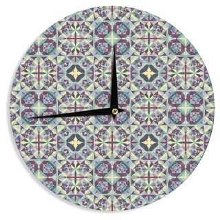 KESS InHouseAllison Soupcoff 'Curiousity' Purple Wall Clock
