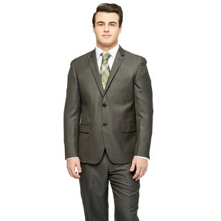 Caravelli Men's Extra Slim 2-button Grey Suit