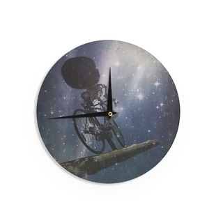 "Kess InHouse alyZen Moonshadow ""No Rest For The Wicked"" Blue Galactic Wall Clock 12"""