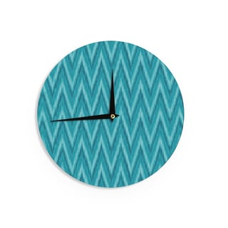 "Kess InHouse Amanda Lane ""Island Blue"" Aqua Navy Wall Clock 12"""