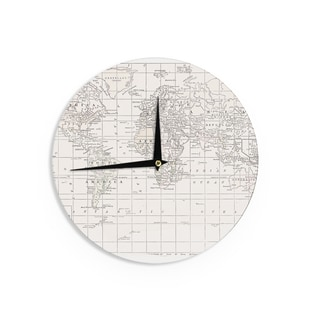 KESS InHouseCatherine Holcombe 'The Old World Cream' White Wall Clock