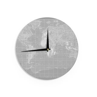 KESS InHouseCatherine Holcombe 'The Olde World' Wall Clock