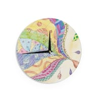 KESS InHouseCatherine Holcombe 'The Painted Quilt' Wall Clock