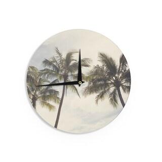 KESS InHouseCatherine McDonald 'Boho Palms' Coastal Trees Wall Clock