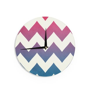 KESS InHouseCatherine McDonald 'Fade to Blue' Chevron Wall Clock