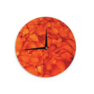 KESS InHouseClaire Day 'Orange' Red Wall Clock