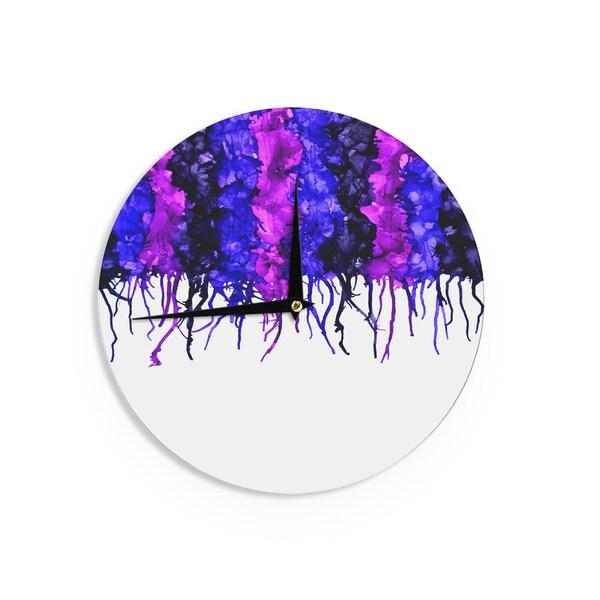 KESS InHouseClaire Day 'Drops' Purple Wall Clock