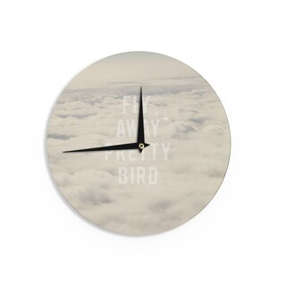 KESS InHouseCatherine McDonald 'Fly Away Pretty Bird' Wall Clock