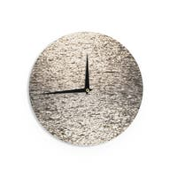 KESS InHouseCatherine McDonald 'Golden Hour' Water Reflection Wall Clock
