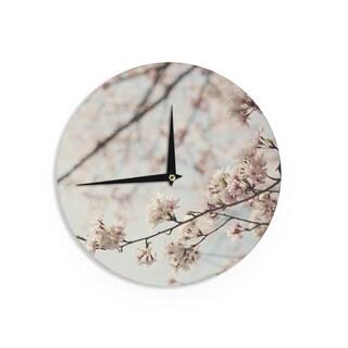 KESS InHouseCatherine McDonald 'Japanese Cherry Blossom' Wall Clock