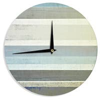 KESS InHouseCarolLynn Tice 'No Limits' Teal Brown Wall Clock