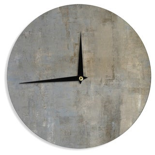 KESS InHouseCarolLynn Tice 'Overlooked' Brown Gray Wall Clock