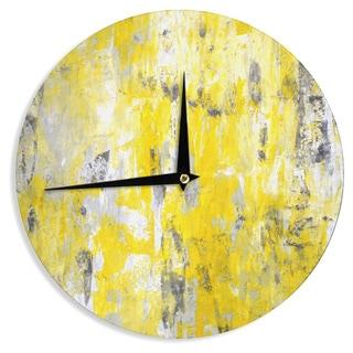 KESS InHouseCarolLynn Tice 'Picking Around' Yellow Wall Clock