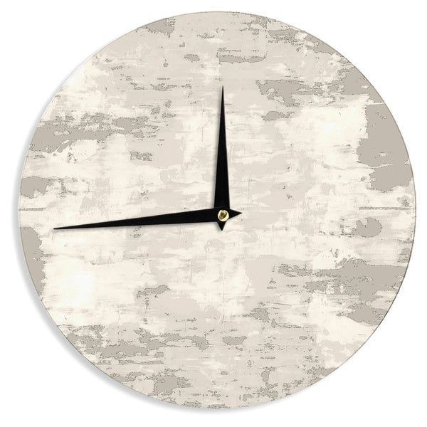 KESS InHouseCarolLynn Tice 'Secluded' Brown Tan Wall Clock