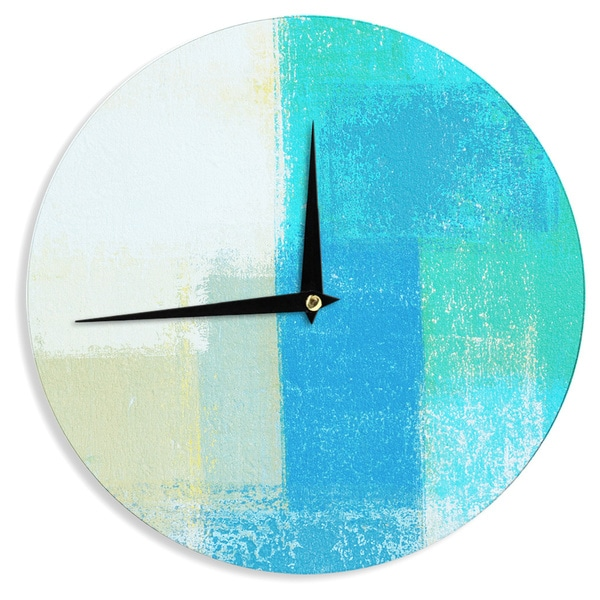 KESS InHouseCarolLynn Tice 'Shallow' Cool Blues Wall Clock
