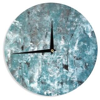 KESS InHouseCarolLynn Tice 'Shuffling' Teal Blue Wall Clock