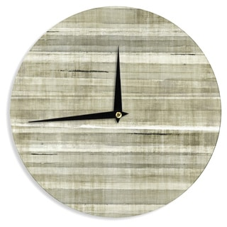 KESS InHouseCarolLynn Tice 'Simplicity' Light Brown Wall Clock