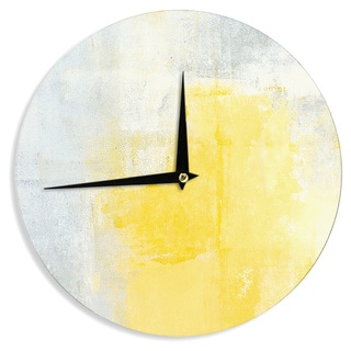 KESS InHouseCarolLynn Tice 'Stability' Yellow White Wall Clock