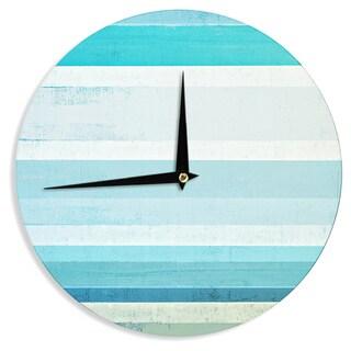 KESS InHouseCarolLynn Tice 'Waves' Blue Aqua Wall Clock