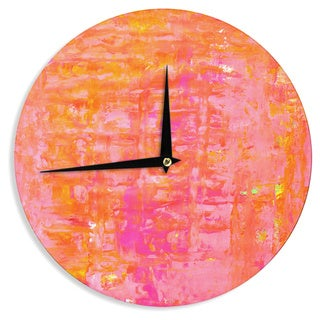 KESS InHouseCarolLynn Tice 'Wiggle' Orange Wall Clock