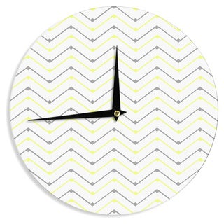 KESS InHouseCarolLynn Tice 'Witty' Yellow Gray Wall Clock