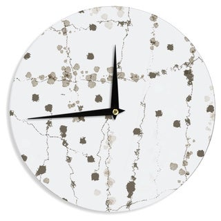 KESS InHouseCarolLynn Tice 'Wonder' Brown White Wall Clock