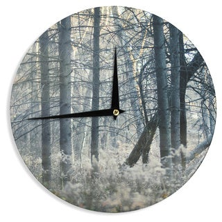 KESS InHouseChelsea Victoria 'Out Of The Woods' Nature Photography Wall Clock